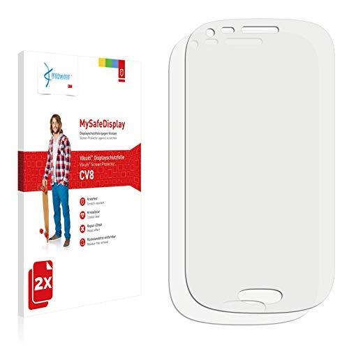 Vikuiti 2X Displayschutzfolie CV8 von 3M kompatibel mit Samsung SGH-T399 Schutzfolie Folie (Für Cover Samsung T399)