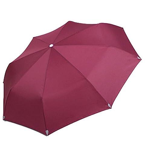 Joyousac Coupe-vent Parasols Voiture Ouvert étroite Pliage Parapluie de Golf Forte Durable Compact Voyages (red)