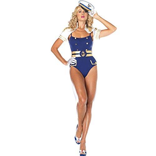 Nihiug Halloween Erwachsene Weibliche Seemann Kostüm Sexy Seemann Installierte Ghost Festival Ostern Cosplay Navy Corpse Interessant,A