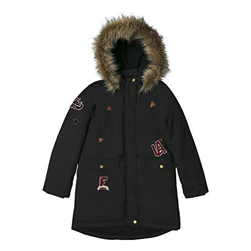 ESPRIT Mädchen Jacke RK42025, Schwarz (Black 020), 152 (Herstellergröße: M) (Jacke Mädchen Winter)