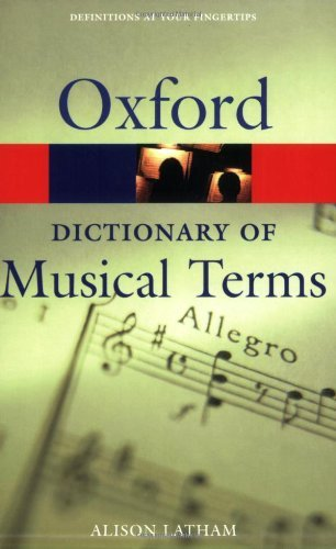 Oxford Dictionary of Musical Terms (Oxford Quick Reference) (2002-12-05)