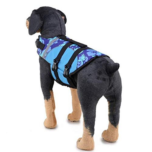 (Werse Reflektierende Schwimmanzug Hunde-Badeanzug - Blau - M)
