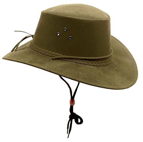 Kakadu Australia Damen Herren Sommerhut aus Mikrofaser mit breiter Krempe und Kinnband (Sommer-hut Casual)