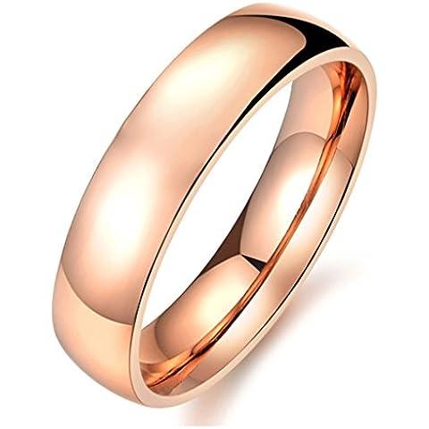 Bishilin Acciaio Inossidabile 5MM Rosa Placcato Oro