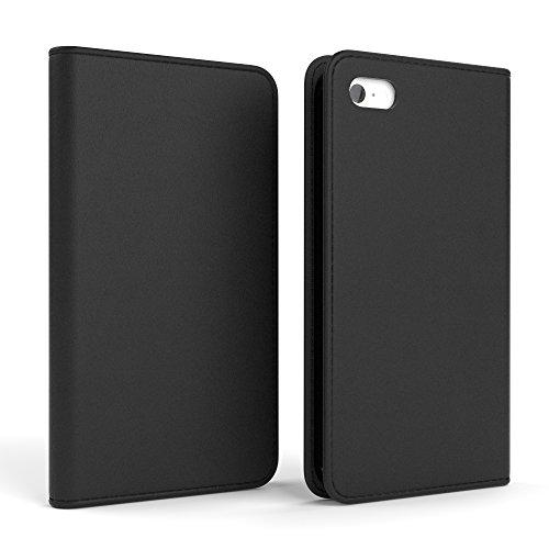 Apple iPhone 5C Tasche, EAZY CASE Book-Style Case Uni, Premium Handyhülle mit Kartenfach, Schutzhülle Geldbeutel mit Standfunktion, Wallet Case, Etui mit Kartenfach in Gelb Schwarz - Vintage