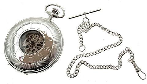 Sterling Silber Taschenuhr Silber Taschenuhr Silber Hälfte Hunter Taschenuhr
