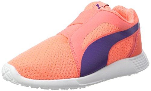 Puma Unisex-Kinder ST Trainer Evo AC PS Sneaker, Orange (Nrgy Peach-Prism Violet), 34 EU