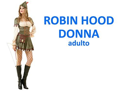 Topwell Robin Hood Donna Costume Adulto,, 375199