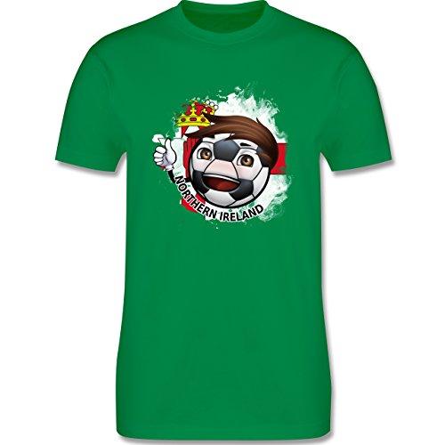 EM 2016 - Frankreich - Fußballjunge Nordirland - Herren Premium T-Shirt Grün