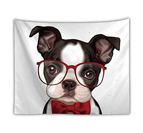 Tapisserie, Brille AFFE Mode Hund Außenhandel Benutzerdefinierte Wandbehang Kissen Strandtuch Dekorative Decke,A,200X150cm -