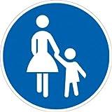 Verkehrszeichen VZ239, Gehweg, Alu, RA1, Ø 42cm Verkehrsschild