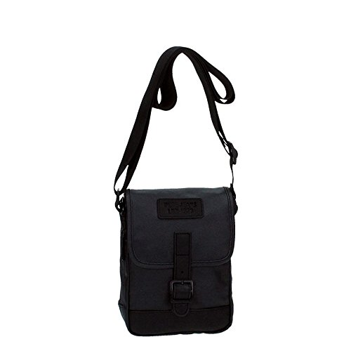 Pepe Jeans Black Label Bandolera Solapa, Color Negro