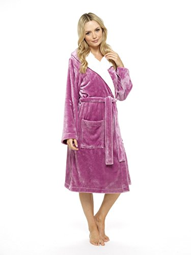 CityComfort® Luxury Dressing Gown Ladies Super Soft Robe With Fur ...