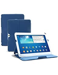 Supremery Ultra Slim Samsung Galaxy Tab 3 10.1 P5200 P5210 Sac Boîte Étui Manteau Couverture Enveloppe de protection Enveloppe en bleu