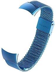 Nishci Cinturino per Orologio, Cinturino in Acciaio con Cinturino in Acciaio Impermeabile con Cinturino di Ricambio per Huawei Honor Band 4