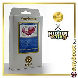 Wooper SV9/SV94 Variocolor - #myboost X Sun & Moon 11.5 Hidden Fates - Box de 10 cartas Pokémon Inglesas