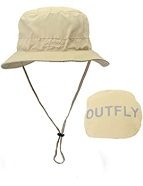 LAOWWO Gorro de Pescador - Sombrero de Sol de Cubo Sombrero de ala Ancha UPF50 + para Hombres y Mujeres