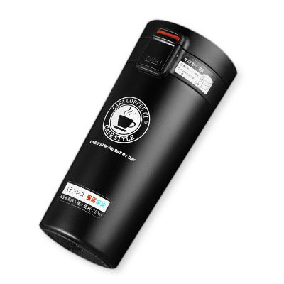 Faway borracce da 380ml in acciaio INOX vuoto Student thermos Cup Portable creative Vacuum Coffee Cup Nero