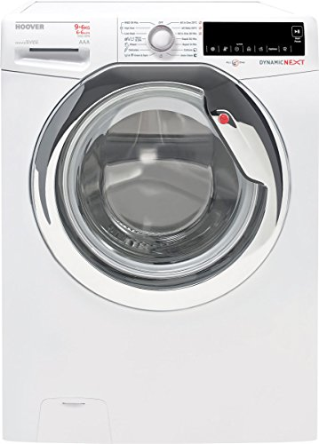 Hoover WDXA 596AH/1-84 Night & Day SILENT INVERTER Dynamic Next Waschmaschine und Trockner 9 kg / 6 kg 1500 U/Min, Touch Control-Digital Display, Babywäsche, Seide, Trommel reinigen, Hygiene, großer Haushalt (5+ Personen ) Weiss