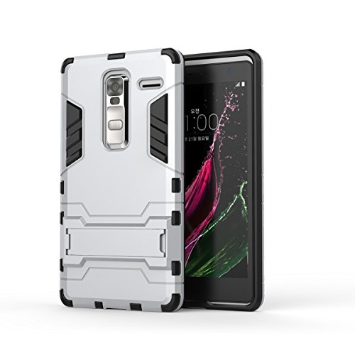 LG Class Case, 2 In 1 Neue Rüstung Tough Style Hybrid Dual Layer Rüstung Defender PC Hartschalen mit Ständer Shockproof Case ​​Für LG Class ( Color : Blue Black , Size : LG Class ) Silver