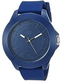 Skechers Hombres de Cuarzo Reloj con Casual de plástico y, Color: Azul (Modelo