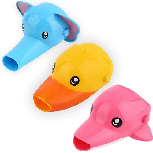 Gugutogo 1 stück Neue Glückliche Spaß Tiere Elefanten Ente Dolphin Form Wasserhahn Extender Baby Kinder Hand Waschen Waschbecken Zubehör