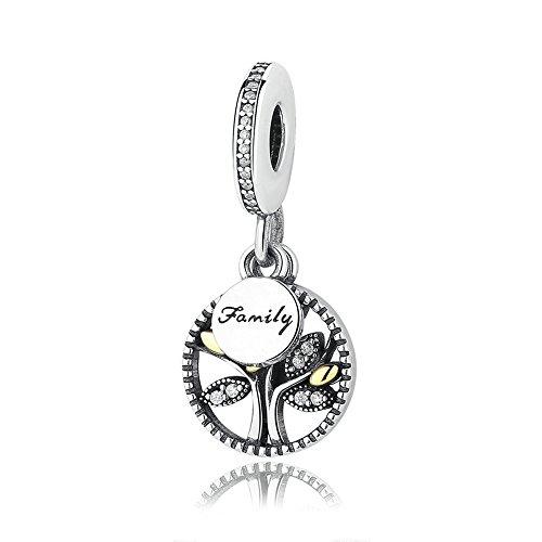 Family Heritage Dangle Charm 925 Sterling Silber Charms für Pandora, europäischen Armbänder kompatibel Heritage-crystal-crystal