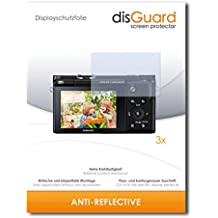 3 x disGuard Anti-Reflective Lámina de protección para Samsung NX3300 / NX-3300 - ¡Protección de pantalla antirreflectante con recubrimiento duro! CALIDAD PREMIUM - Made in Germany