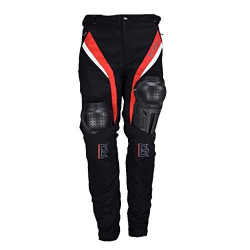 Tubayia Herren Motorrad Reithose Atmungsaktiv Motorradhose mit Hüfte und Knie Protektoren (M)