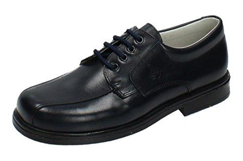 YOWAS 6894 Zapatos Piel Azul NIÑO Zapato COMUNIÓN Marino 36