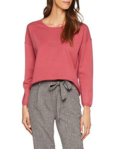 SELECTED FEMME Damen Pullover Slfminna LS Knit O-Neck Noos, Rosa (Slate Rose), 40 (Herstellergröße: L) - Knit Black Slate