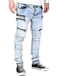 MT Styles Zipper Jeans Slim Fit pantalon RJ-2026