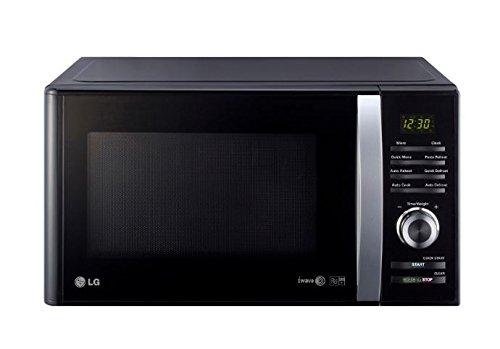 LG MH6382BTB Forno a microonde grill, 23 litri, tecnologia I-WAVE, Nero