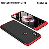 #2: MOBICLONICS 360 Degree Double Dip Premium Shockproof Back Cover Case for Xiaomi redmi Mi Y2 (Red+Black)