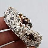 ZMCW 100% Natural Granate y té Cristal simbiosis minerales...