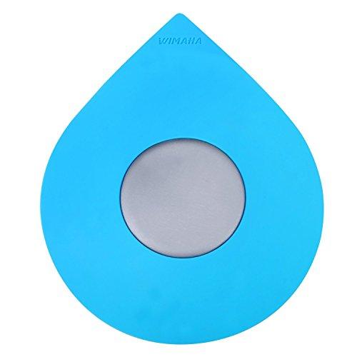 wimaha Badewanne Drain Stopper Silikon recycelbar Gummi Badewanne Ablaufstopfen Cover für 1–1/5,1–10,2cm Badezimmer, Waschküche, Küche Universal Verwendung, blau Water Drop Design (Badewanne-überlauf-drain Cover)