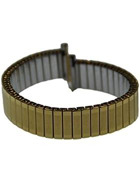 Rowi FixoflexS Zugband 12mm Uhrenarmband Vergoldet Flex Armband Uhr Band 385007