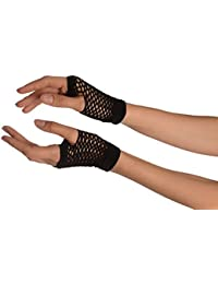 Black Fishnet Fingerless Party Gloves - Noir Gants
