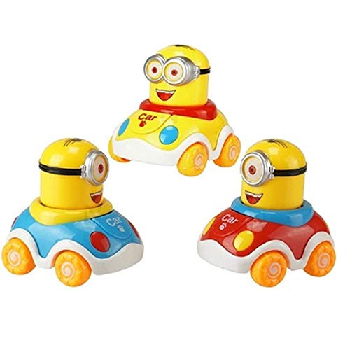 Grab Offers Early Education Adorable Cute Bright Color Car for 1 Year Old Baby Push and Go Toy Vehicle Car for Kids.(Random Colors) (1 Pcs)(8.5 x 6 x 5.5 cm)