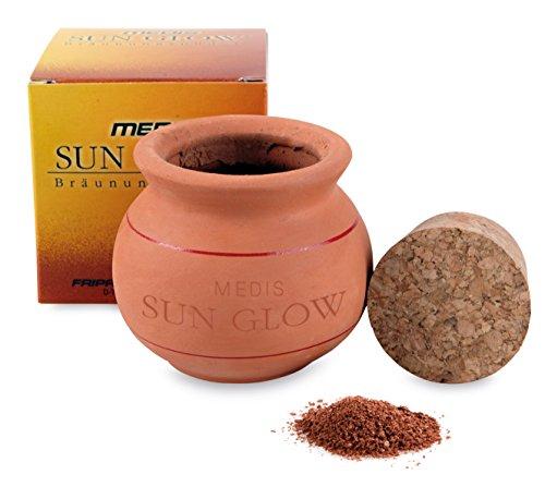 Medis Sun Glow - Poudre de Bronzage Ton Foncé - Poudre dans Un Creuset en Argile - 15 g