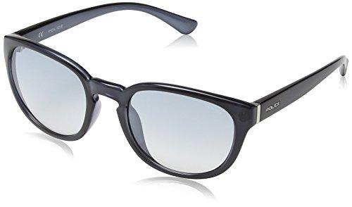 Police S1937 Hot 2 Oval Sonnenbrille, SHINY TRANSPARENT DARK BLUE FRAME/BLUE GRADIENT/SILVER MIRROR LENS