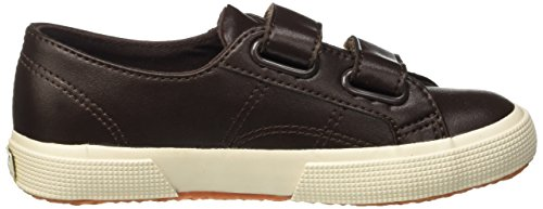 Superga 2750-Microfiberpuvj, Scarpe Low-Top Unisex – Bambini Marrone (Brown Dk Chocolate)
