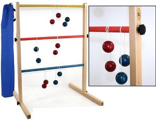 Leitergolf Twist Ladder, Leiter Golf Spiel - Massivholz mit Tasche (Golf Tasche Steht)