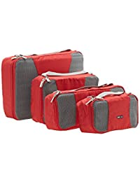 [Sponsored]BagRUs Red Polyester Packing Cubes Travel Organizer Bag Set Of 4 (QB103FRE)