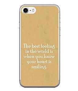 PrintVisa Designer Back Case Cover for Apple iPhone 6s Plus :: Apple iPhone 6s+ (Wordings Words Sayings Smiling Heart)