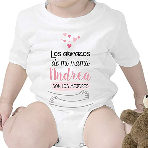 Regalo personalizado: body para bebé 'Abrazos de mi mamá' personaliz