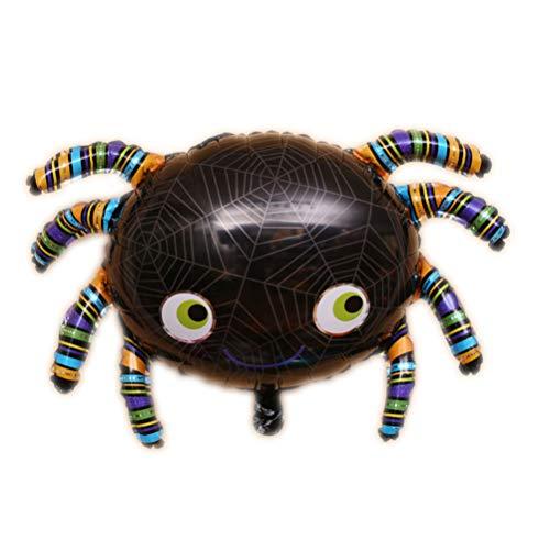 YEMOCILE Halloween Feiertag Party Kürbis Spinne Schläger Geist Dekorative Aluminium Helium Ballons (Spider)