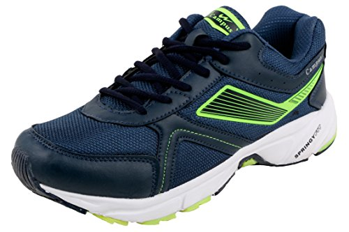 Action Campus Men's Navy Parrot Green Colour Springy Fit Synthetic and Nylon Mesh Running Shoes 8UK