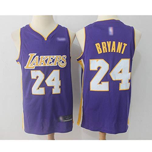 ATI-HSKJ Herren Trikots LA Lakers # 24 Kobe Bryant Basketball Fans Westen Retro Swingman Sports Tops,Lila,XL:180cm~185cm
