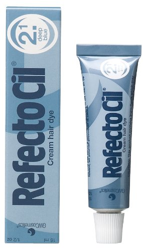 Refectocil Cream Hair Dye (DEEP BLUE) 0.5 Oz by RefectoCil